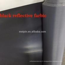 100% polyester tissu réfléchissant noir