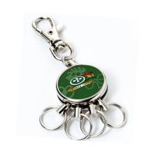 Рекламная функция круглой печати брелок для ключей с несколькими кольцами (F1339B)