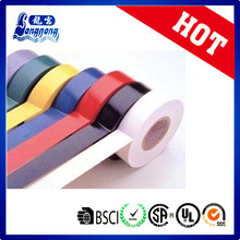 Fitas elétricas de PVC de cores diferentes