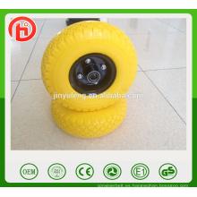 6 x2 2.50-4 3.00-4 3.50-4 400-8 CHINA rueda de la espuma de la PU de la alta calidad para la carretilla del carro de la carretilla del carro de mano de la carretilla