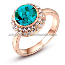 Azul grande Gemstone anéis de casamento de noiva