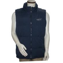 Unisex Stand Collar Zipper Polyester Solid Print Außen Winter Weste Jacke für Männer