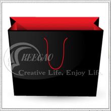 Test de SGS, sac en papier noir et rouge, sac à provisions (KG-PB041)