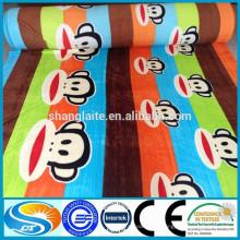 Impressão de tecido de algodão tecido personalizado para as mulheres camisas de tecido de flanela