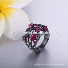 Ruby Stone Silver Ring Designs for Men Gay Men Ring precio barato