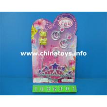 Bonito plástico brinquedos menina brinquedo beleza conjunto de brinquedos (1036301)