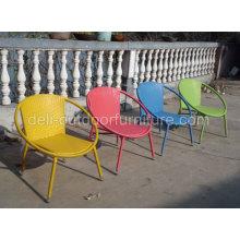 Alumínio vime Rattan interior cadeira de dobramento