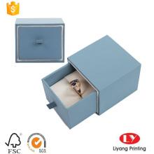 Caixa de gaveta de papelão com espuma para anel