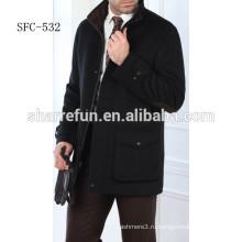 горячая распродажа черный мужские шерстяные пальто