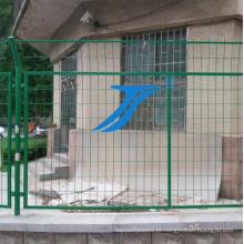 Cerca de arame duplo painel, PVC revestido, protegendo cerca