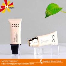 50ml plastic cream pump flat oval tube