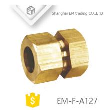 EM-F-A127 Conector rápido de forma hexagonal de unión macho macho de latón recto