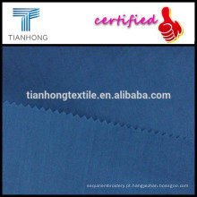 tecido de popeline de algodão cor azul escuro alta qualidade 80s weave liso para camisa formal