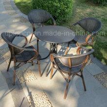 Открытый и крытый ресторан комплект мебели из ротанга PE стула и круглый стол (СП-CT836)