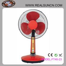 Beliebte Design Solar Fans 12V DC Tischventilator mit LED Licht