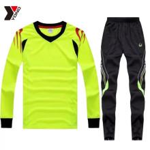 Многоцветный с длинным рукавом полный комплект обучение футбол Джерси в наличии