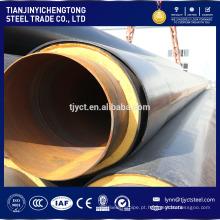 tubulação de aço soldada sprial redonda erosiva da tubulação API5l / tubo para a tubulação preta do revestimento e 3PE