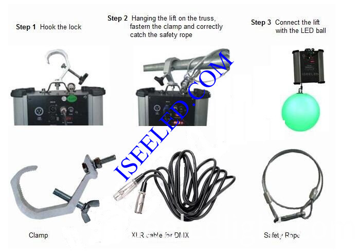 DMX512 Kinetic LED Ball RGB