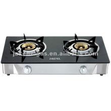cuisinière à gaz tabel double brûleur en verre, cuisinière à gaz