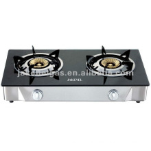 glass top double burner tabel gas stove, gas cooker