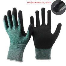 NMSAFETY EN388 4343 anti oil cut resistant Nitrile coated safety working gloves