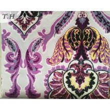 Красочная печать бархат ткань для мебели и диван