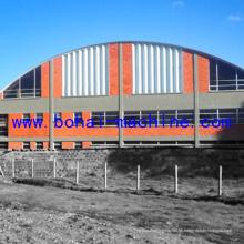 Máquina de proyecto de techo curvo Bohai 1250-800