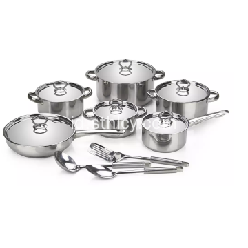 Set Peralatan Masak Stainless Steel 15pcs