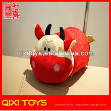 Caja de pañuelos de toro rojo de alta calidad de diseño novedoso