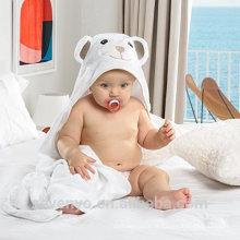 Serviette de bébé à capuchon en bambou bio gigh quantité super douce enveloppement en blanc Idéal pour les nouveau-nés, les nourrissons et les tout-petits Ultra doux et