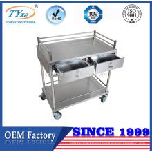 metal general medical 4 wheel trolley