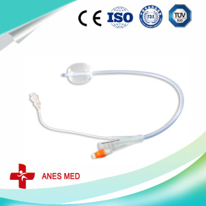 Foley catheter with temperature senor