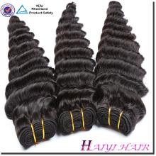 La cutícula malaya alineó el pelo humano de alta calidad 8A 9A 10A onda profunda