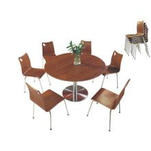 Table ronde classique en bois (FOH-BC30)