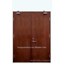 Puerta de incendio de hospital, puerta de madera