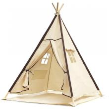 Indian Canvas Teepee Children Playhouse Kids Play Tent