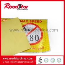 PVC prismático reflexivo vinilo auto-adhesivo para el signo de carretera