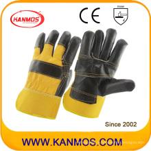 Черная мебель Cowhide Split Leather Промышленные защитные рабочие перчатки (310023)