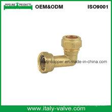 6year Qualité Garantie Laiton Compression Equal Coude / Coude En Laiton (AV7011)
