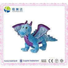 Realistische Styling Blue Dragon mit Sound Plüsch Elektronische Spielzeug