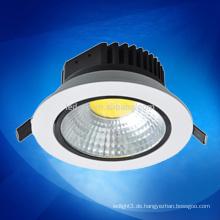 Neues Produkt geführtes Licht 10W / 15W / dimmable cob führte downlight 3 Garantiejahre