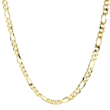 Fashion Dubai Jewelry 14K Gold Filled Plated Long Neck Chain Stainless Steel Necklace New Gold Chain Design For Men