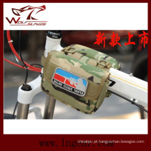 Bolsa de selim de ombro tática militar esporte ao ar livre de saco de bicicleta