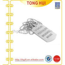 Personalisierte Nachricht Hund Tag Halskette Hersteller Nachahmung Schmuck
