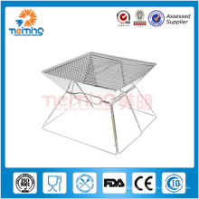 outdoor foldable stainless steel barbeque charcoal grill, bbq grill