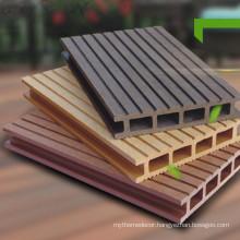 Anti-UV deck pvc wooden floor interlocking composite decking tiles from YUJIE factory