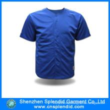 China Wholesale Blue High Quality Cheap Price Baseball Jersey