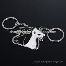Gato blanco y negro llavero regalos de boda blanco y negro gato pareja llavero YSK008