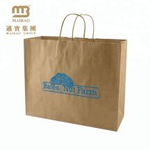 Китай Поставщик пользовательских большие рекламе несущей Покупкы Упаковывая печатание CMYK мешок Брайна Kraft бумажный