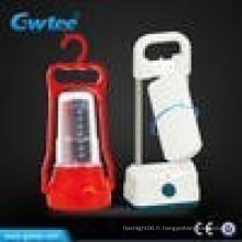Fabriqué en Chine, camping portable rechargeable conduit des lumières de secours